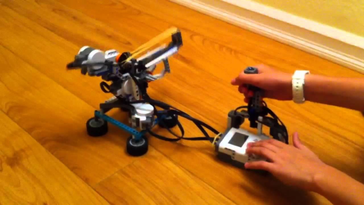 Mindstorm Nxt Rubber Band Gun Youtube