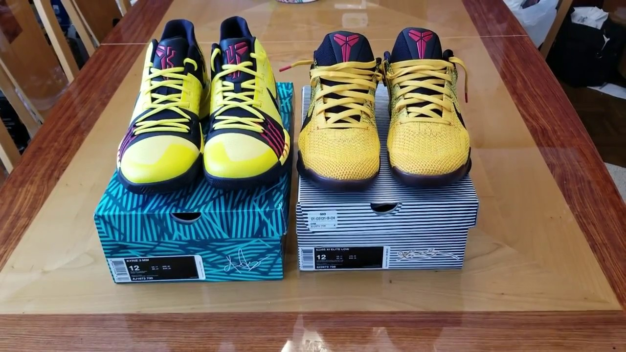 3cf145b0c1a KYRIE 3 VS KOBE 11 !!!!!BRUCE LEE EDITION!!!!! - YouTube