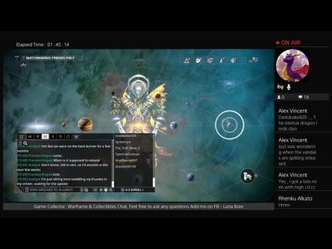Lunakore Game Collector Helping Players - Warframe Veteran - May 8th 2018 - General Play