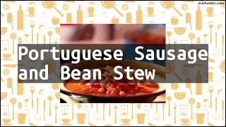 Recipe Portuguese Sausage and Bean Stew