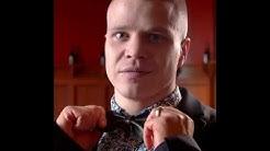 Naskali Leather reversible bow tie