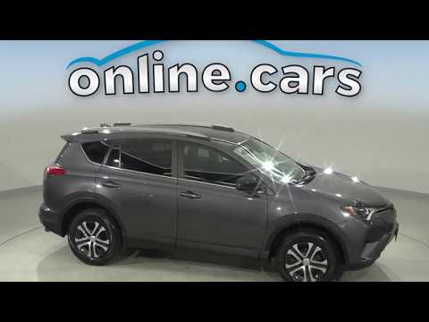 G16810NA Used 2017 Toyota Rav4 Gray SUV Test Drive, Review, For Sale