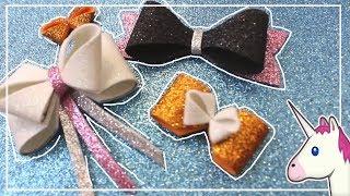 Como hacer moños de goma eva PASO a PASO | Glitter bow | Adornos con goma eva | Laço em eva