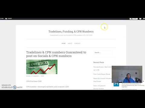 cpn number for credit with seasoned tradelines tri merged 202 213 2218