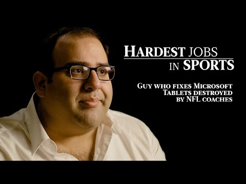 The Guy Who Fixes Tablets for NFL Coaches | Hardest Jobs in Sports