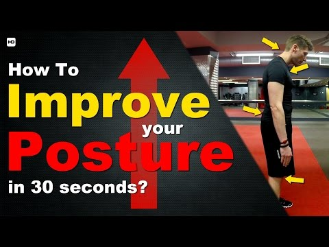 How to Improve Bad Posture and Rounded Shoulders in 30 Seconds - Full Body Posture Assessment