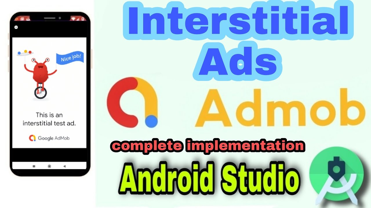 Download How to implement Interstitial Ads in Android App with JAVA   Admob Interstitial Ads Implementation