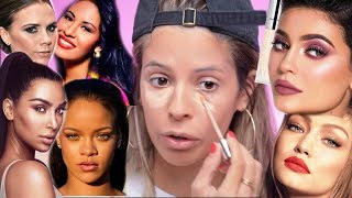 FULL FACE OF MAKEUP BY CELEBRITIES | HIT OR MISS?