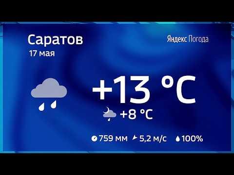 Погода в Саратове/17.05.2017