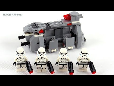 Lego Star Wars Imperial Troop Transport Review Set 75078 Youtube