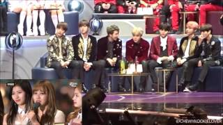 BTS reaction to TWICE (Song of the Year) at MAMA 2016 ver.1