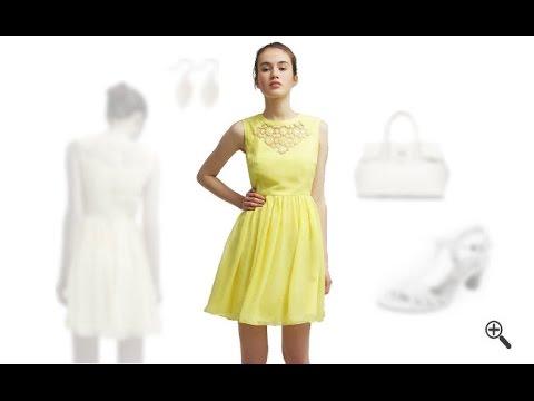 Gelbes Kleid in kurz kombinieren + 3 Gelbe Outfits für Helen - YouTube