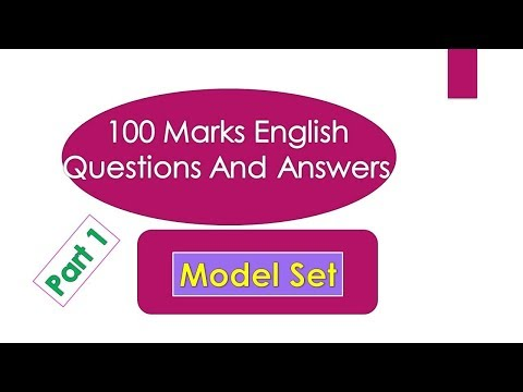 100 marks English Questions Answers(Model Set)