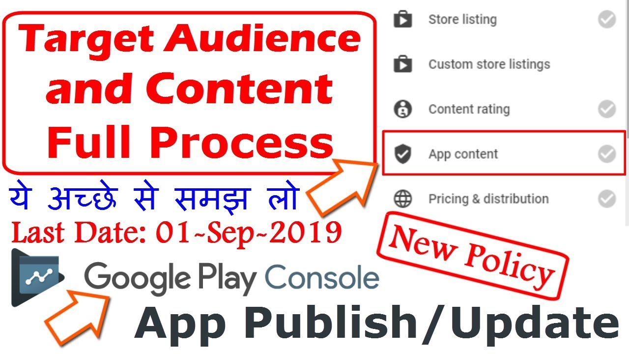 How to fill Target Audience and App Content in Google Play Console | Policy  on Play Store App Update