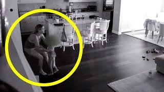 Babysitter Hears Noise Upstairs, So Dad Checks Hidden Camera And Captures A Nightmare In His Kitchen