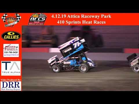 4.12.19 Attica Raceway Park 410 Sprints Heat Races