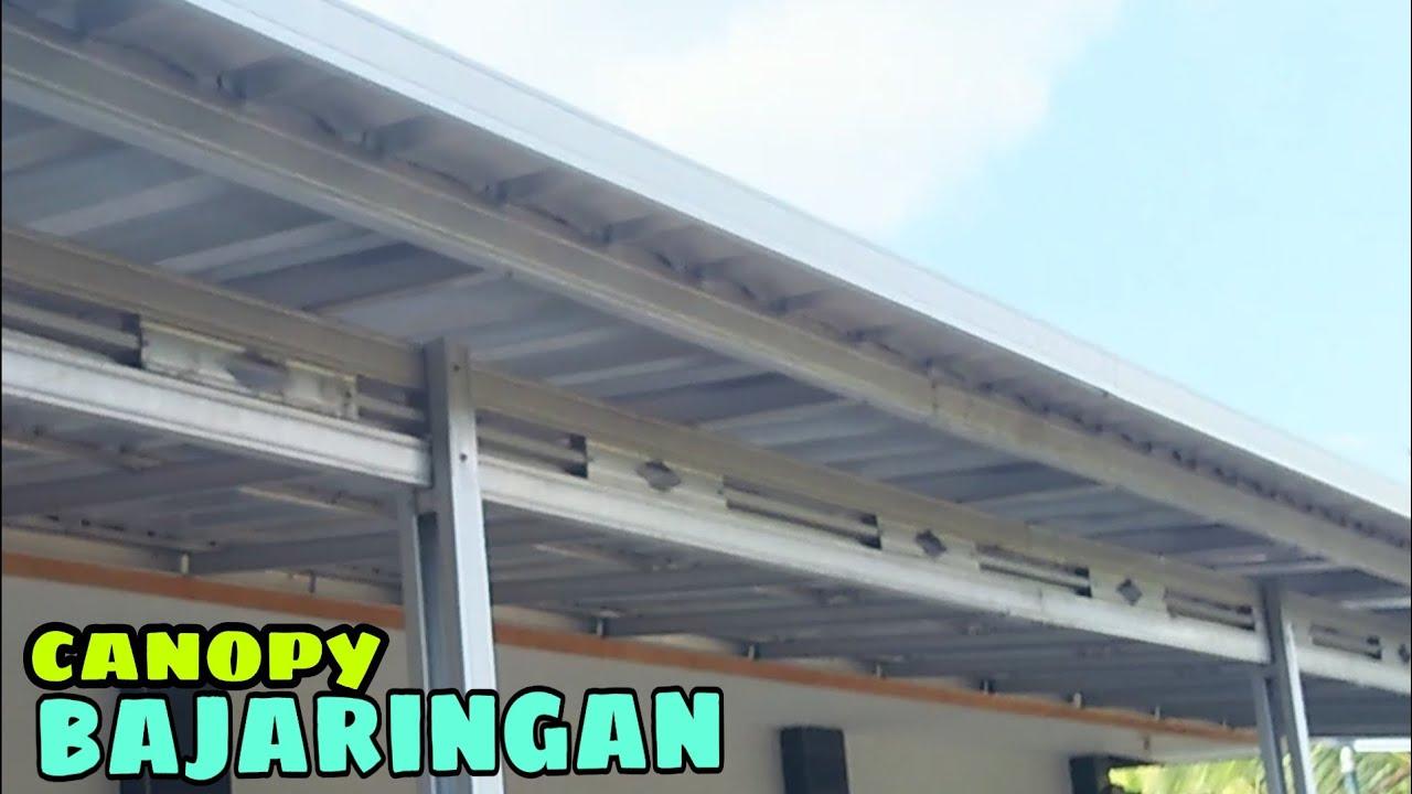 lisplang kanopi baja ringan tutorial pemasangan canopy bajaringan atap spandex youtube