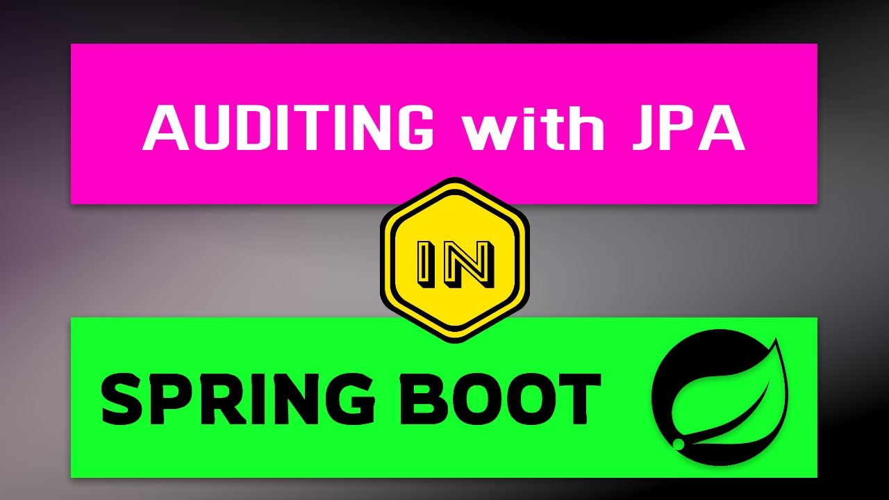 Auditing with Spring Data JPA