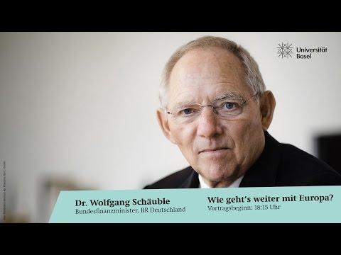 Dr. Wolfgang Schäuble - Wie weiter mit der Europäischen Union?