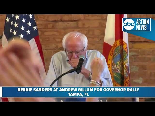 U.S. Senator Bernie Sanders speaks at Andrew Gillums rally for governor