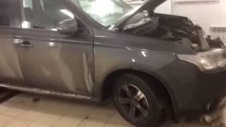 видео Кузовной ремонт Мицубиси, покраска Мицубиси