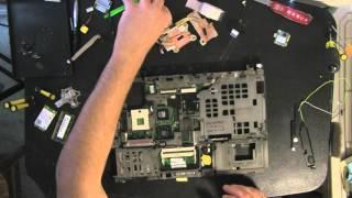 Ноутбук Lenovo Т400 розібрати відео, як відкрити, dissasemble, відео розбирання