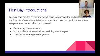 Supporting Trans Students Workshop: First Day Introductions