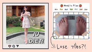 I TRIED IU KPOP IDOL DIET | LOSE 7 POUNDS IN A WEEK