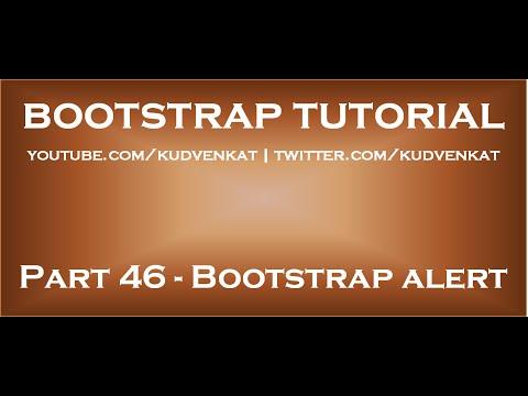 Bootstrap alert