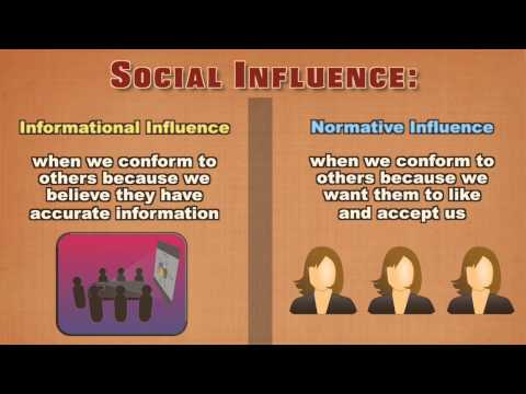Social Influence: Conformity and the Normative Influence