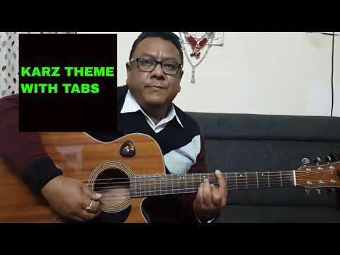Online Guitar Lesson   Ek  Hasina Thi   Karz movie  theme by sudarshan
