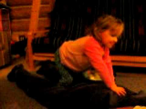 2 year old Twin does a backwards somersault acrobatics!