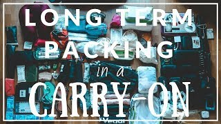 HOW TO PACK A CARRY ON FOR LONG TERM (Backpacking Southeast Asia)   Finding Nour