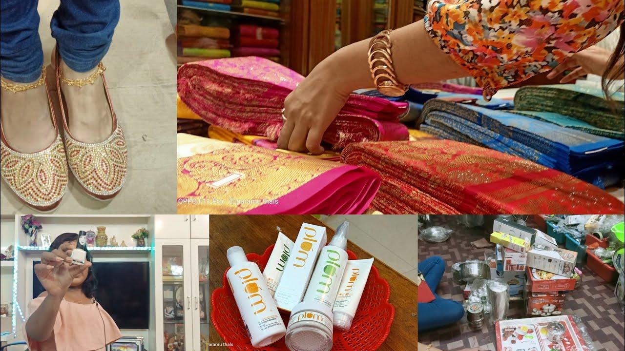 Kalyanam shopping vlog-8 | bridal cheppal - gold facial | tamil [ mokka video alert]|