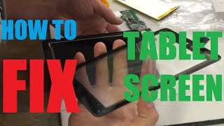 how to replace tablet screen digitizer dell t01c repair