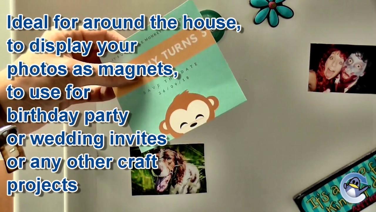 ice magnetic backed inkjet photo paper youtube