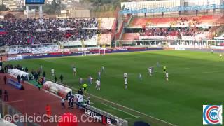 Catania Perugia fine primo tempo tra gli applausi