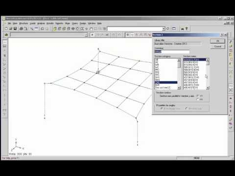 Microstran - Fabric Shade Structure, with Cable Elements, Graphical Input Example 4