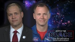 NASA Administrator Bridenstine Talks With Astronaut Nick Hague
