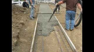 FRY'S CONSTRUCTION MANUFACTURED HOME FOUNDATION POUR