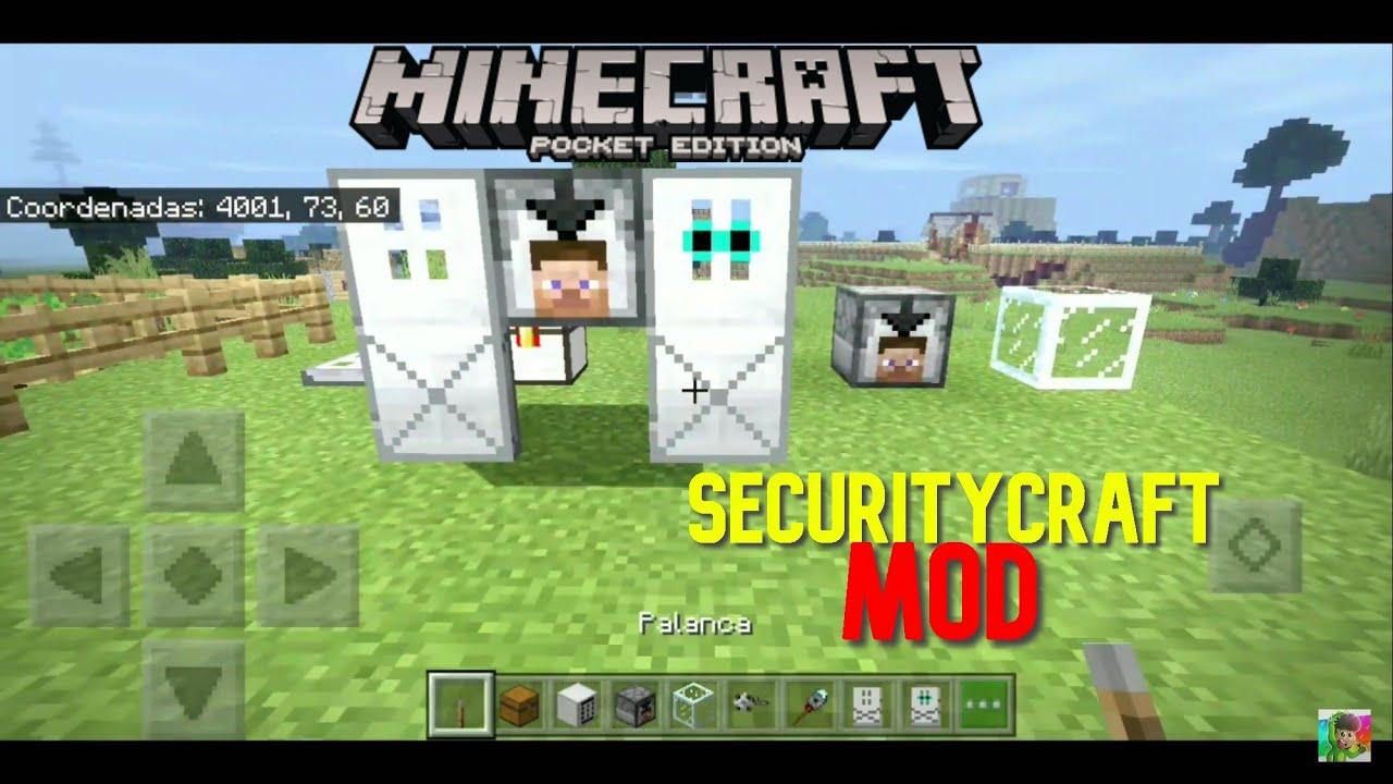 Securitycraft Mod Para Minecraft Pe 1 14 Y 1 16 Youtube