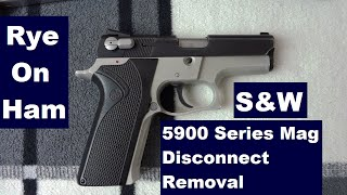S&W 5900 Series (3rd Gen) Magazine Safety Removal