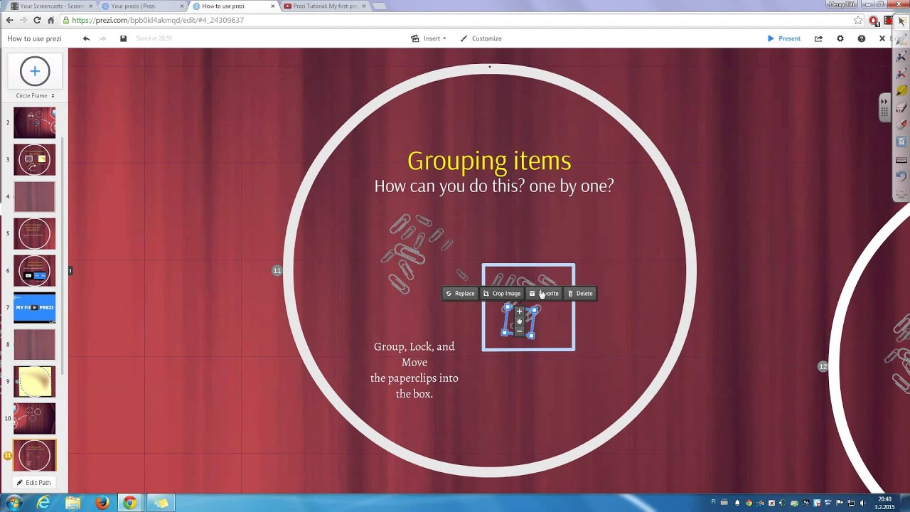 how to add video to your prezi