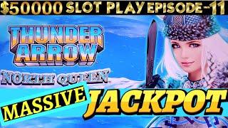 BIGGEST Handpay Jackpot On YouTube For NEW Thunder Arrow Konami Slot | SEASON 6 | EPISODE #11