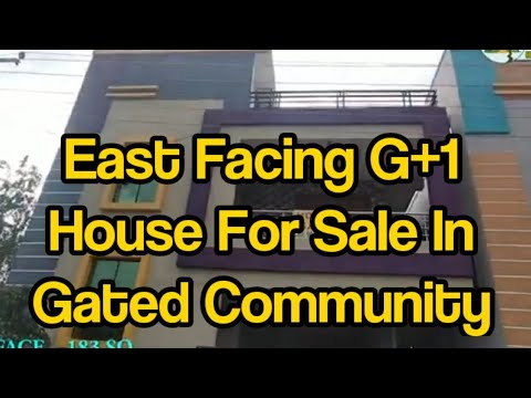 183 Sq Yards East Facing G 1 Independent House For Sale In Gated Community Hyderabad House For Sale Youtube