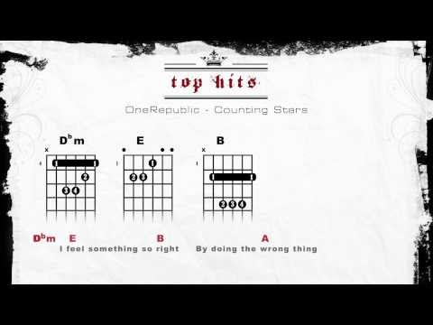 ONE REPUBLIC - COUNTING STARS (LYRICS - CHORDS - GUITAR TABS)