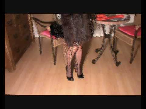 Just me, some black RHT nylons, some killer heels and a fur coat