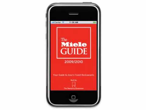The Miele Guide iPhone app