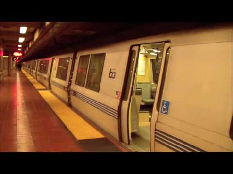 BART: Dublin/Pleasanton Train Arriving And Departing 16th St/Mission