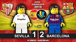 Supercopa de España Final 2018 • Sevilla vs Barcelona 1-2 • Spanish Super Cup • Goals Lego Football